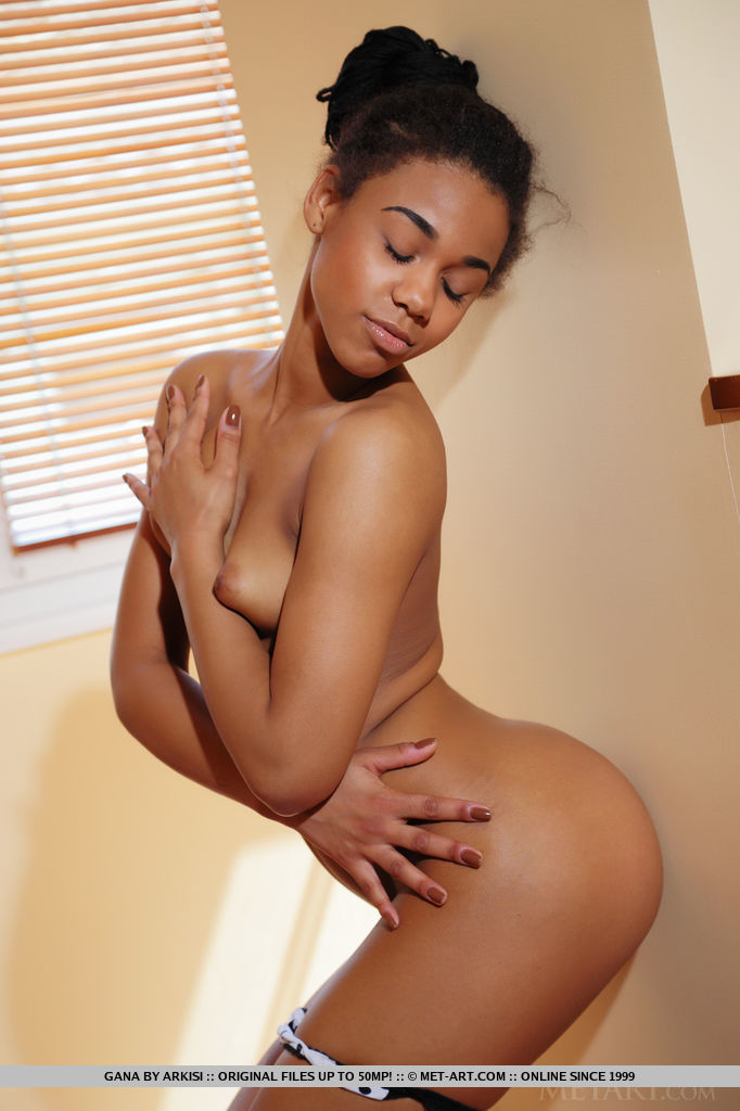 Short naked black girl