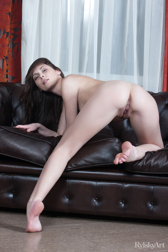 Naked russian gilrs on a couch