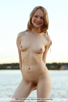 Young Babe Nude On Old Boat