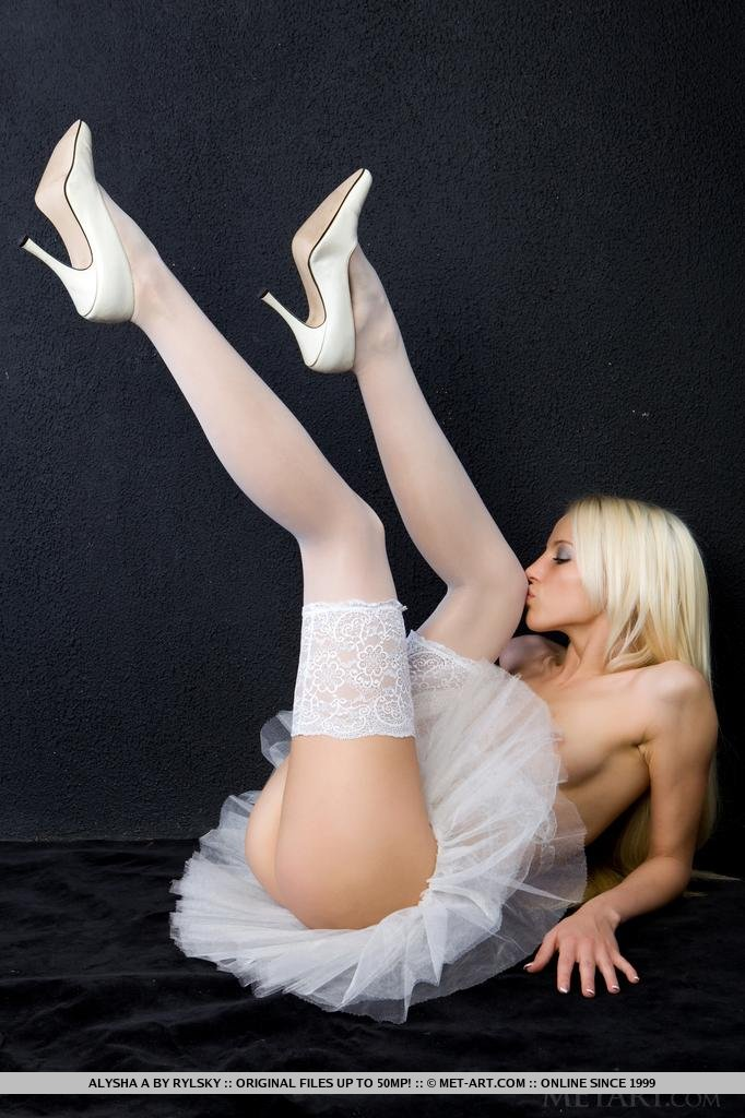 Hot blonde wearing pink disco pants and jimmy choos - 2 part 7
